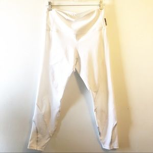 EUC • RBX • White Leggings with Mesh Insets
